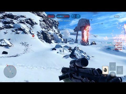 Star Wars: Battlefront Multiplayer Gameplay! (Walker Assault on Hoth - Playstation 4 Beta HD)