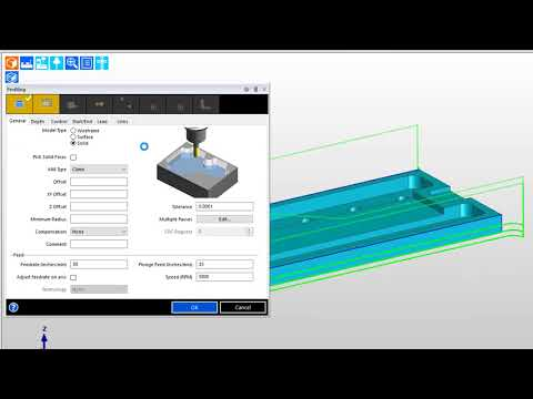 Edgecam Finish Milling applications: Profiling with zig-zag depth control (видео)