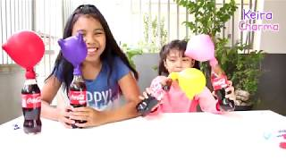 Video COCA COLA WITH BALLOON VS MENTOS VS SALT ♥ Easy home experiment and educational video for children MP3, 3GP, MP4, WEBM, AVI, FLV Oktober 2018