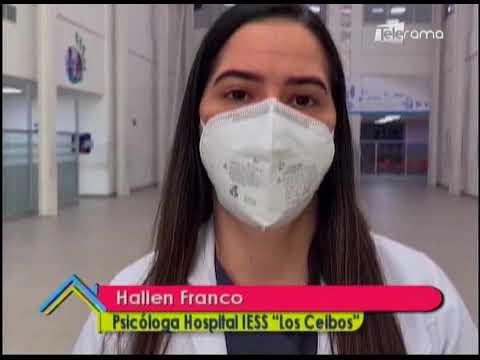 Pacientes con covid-19 pueden hacer video llamadas en hospital IESS de los Ceibos