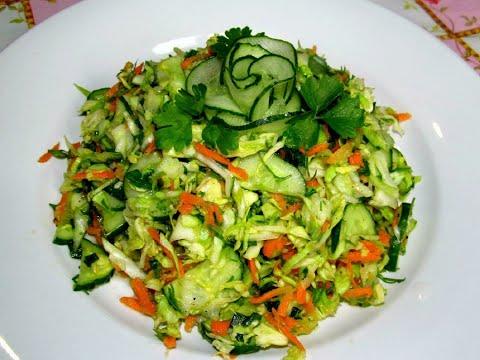 Салат из капусты с огурцом с