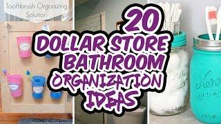 Dollar Store Bathroom Organization Ideas
