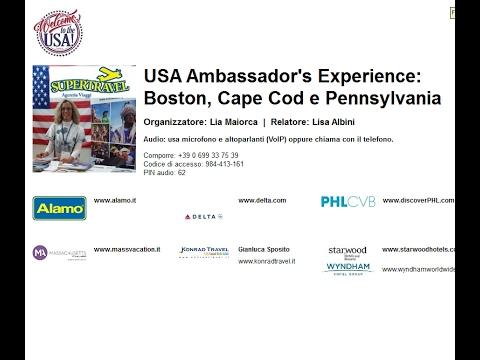 Video USA Ambassador's Experience: Boston, Cape Cod e Pennsylvania (2-2-2017)