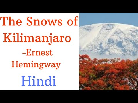 The Snows of Kilimanjaro by Ernest Hemingway Summary in Hindi