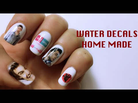tutorial nail art - water decals fatto in casa