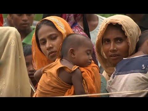 العرب اليوم - شاهد: لاجئو الروهينغا ينتظرون معونات الإغاثة في بنغلادش