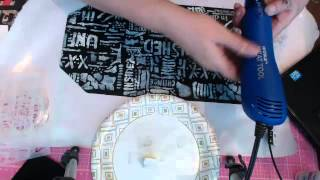 Scrappy Camper Sisters make a faux dori that looks like a vintage clutch purse. - Captured Live on Ustream at http://www.ustream.tv/channel/scrappycampersisters