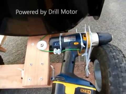 DIY用電鑽發動的小型車子,效果一級棒!