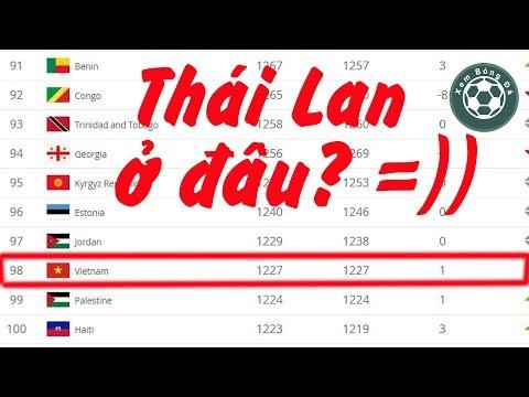 Việt Nam xếp hạng 98 không thấy Thái Lan ở đâu trên bảng xếp hạng Fifa thang 4/2019 @ vcloz.com
