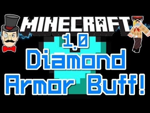 Minecraft 1.0 DIAMOND ARMOR Buff - Now SUPER STRONG ! Resist Explosions & More!