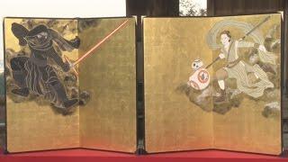 清水寺でスター・ウォーズな「風神雷神」お披露目!