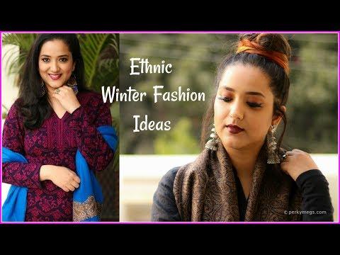 Indian Ethnic Winter Fashion Ideas | Ethnic Winter Wear Lookbook | Perkymegs