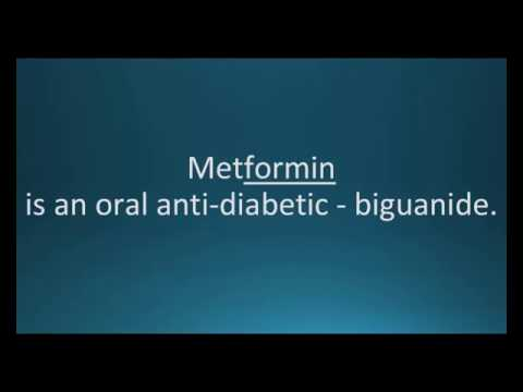 How to pronounce metformin (Glucophage) (Memorizing Pharmacology Flashcard)