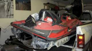 3. HD Seadoo Wake GTX Rotax 4-tec engine build move
