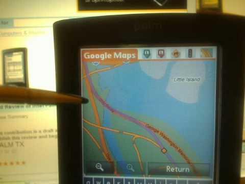 Google Maps PALM OS - Palm TX PDA
