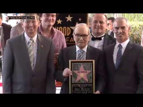 Ennio Morricone Walk of Fame Ceremony