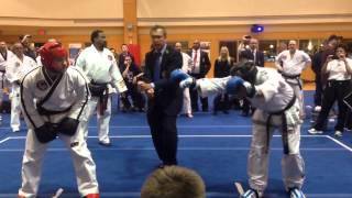 mr. robert powell 5th degree taekwondo fight