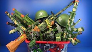 Video Box of Toys ! Military Guns Toys & equipment - Toys for Kids MP3, 3GP, MP4, WEBM, AVI, FLV Oktober 2018