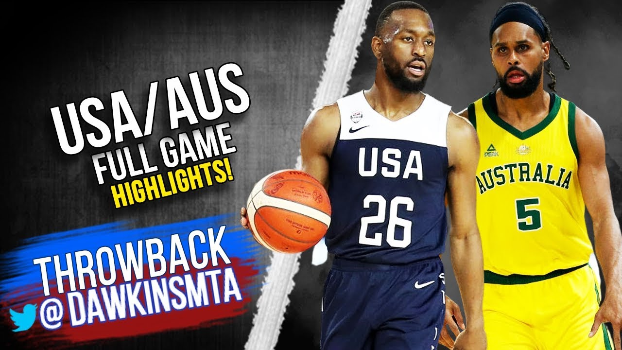 USA vs Australia Full Game Highlights | Aug 24, 2019 | FreeDawkins - YouTube
