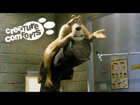 """Unscripted voices of the British public put in the mouths of animals : Oscar winning """"Creature Comforts"""""""