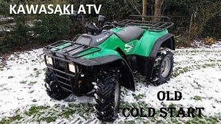 7. OLD COLD START of Kawasaki bayou/klf 300 atv / off road 4x4 quad bike / atv