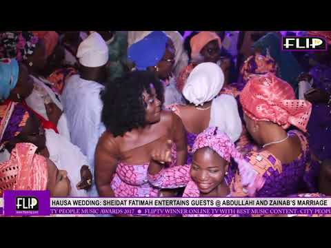 HAUSA WEDDING: SHEIDAT FATIMAH ENTERTAINS GUESTS @ ABDULLAHI AND ZAINAB'S MARRIAGE