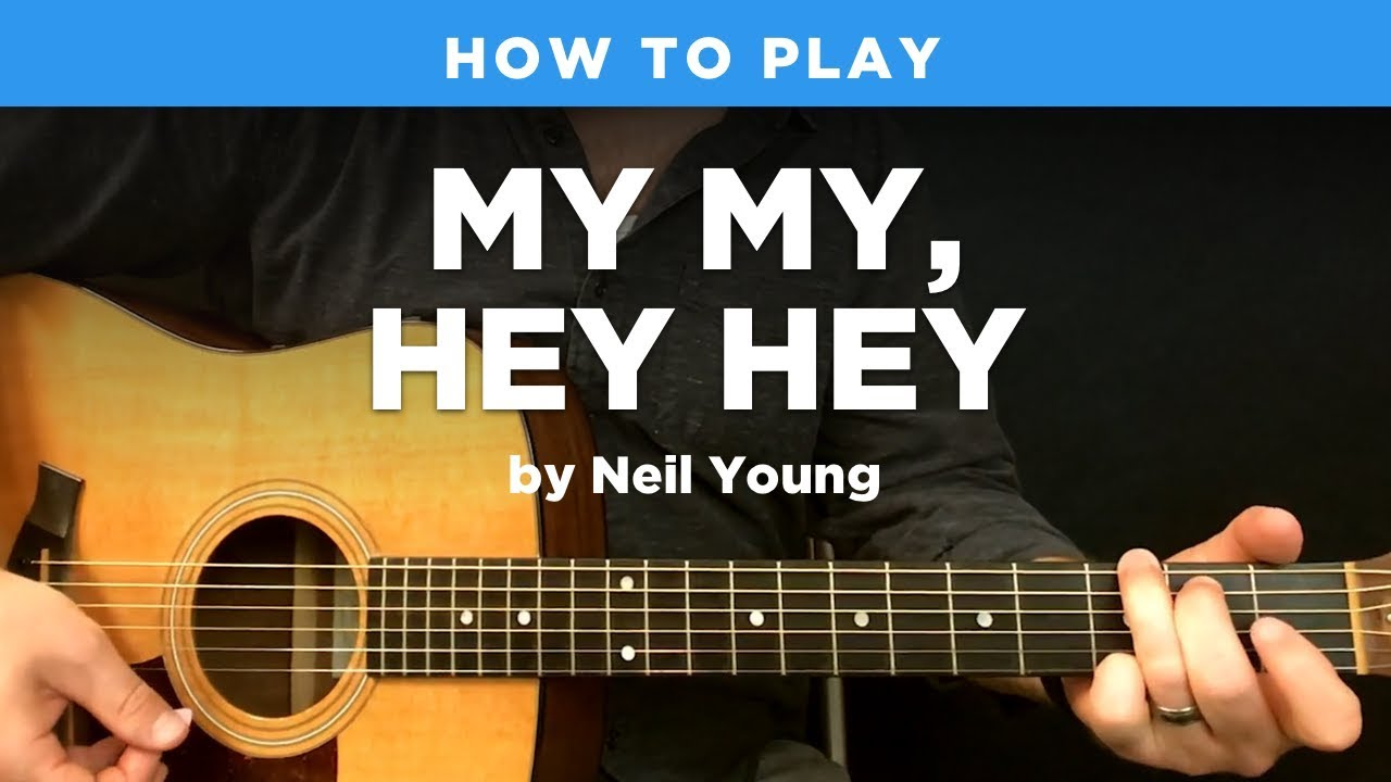 🎸 My My, Hey Hey • Acoustic intro riff w/ tab (Neil Young guitar lesson)