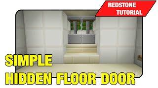 """Simple Hidden Floor Door [Two Way Trap Door]""""Tutorial"""" (Minecraft Xbox 360/One/Ps3/Ps4 TU17)"""