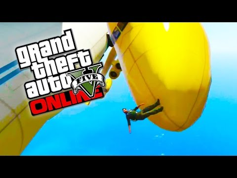 GTA 5 Online – Epic Yellow Cargo Plane! Crazy GTA 5 Stunts & Fails! (GTA 5 Funny Moments)