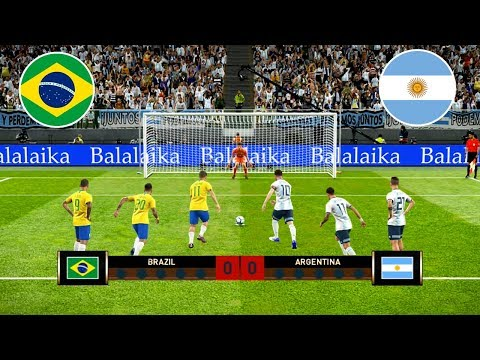⚽ BRAZIL VS ARGENTINA / Penalty Shootout / Copa America Semi-final 🏆 PES 2019