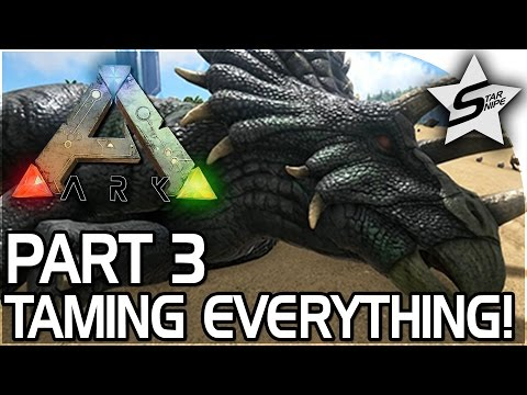 TAMING EVERYTHING!! - ARK Survival Evolved PS4 PRO GAMEPLAY Part 3
