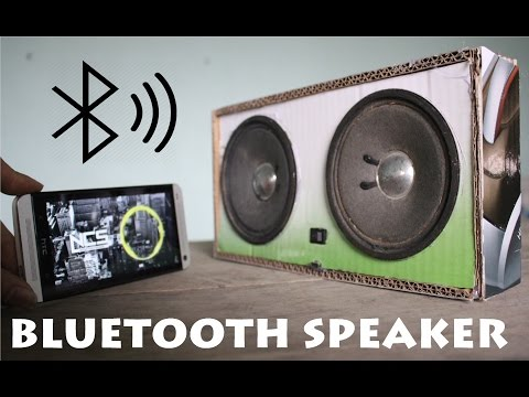 How to make a Wireless 2.0 Bluetooth Speakers using Card Board
