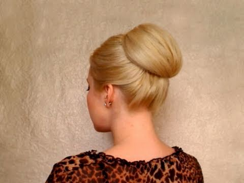 Bun hairstyles for long hair Updo tutorial for prom/wedding
