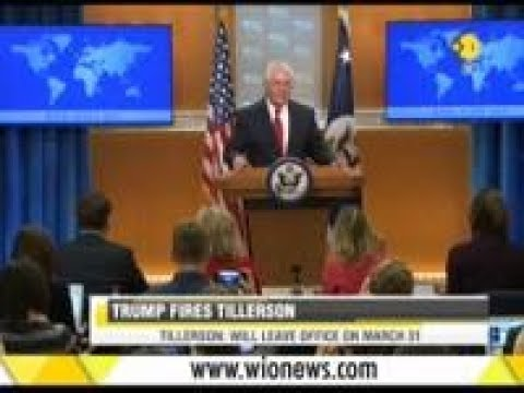 US President Donald Trump Fired United States Secretary of State