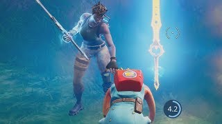 adorable 6 year old thanos default skin carries me on Fortnite