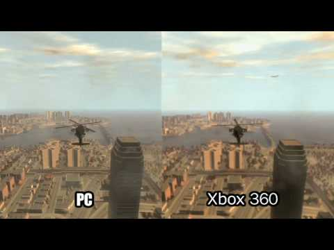 GTA 4 IV Compare: Xbox VS. PC VS. PS3 - HD