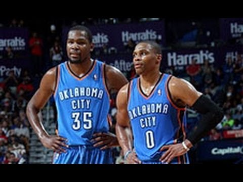 Kevin - Kevin Durant had 29 points, 8 rebounds, and 3 blocks while Russell Westbrook had 25 points in OKC's 109-95 win over New Orleans. Visit nba.com/video for more...