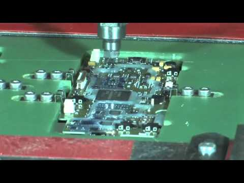 UV conformal coating - Video showing an automated process of applying a conformal coating to a PCB and curing using UV light. The conformal coating is produced by Panacol and suppl...