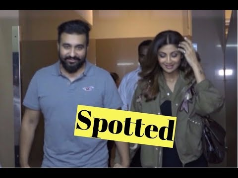 Shilpa Shetty With Her Husband Spotted At Juhu Pvr