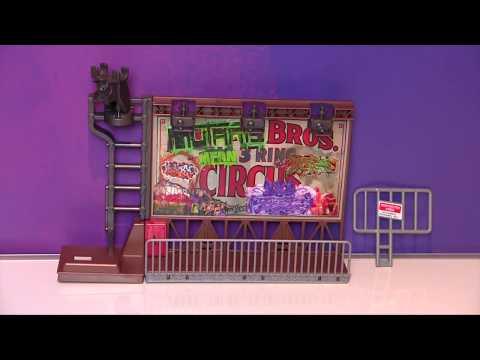 Набор серии ЧЕРЕПАШКИ-НИНДЗЯ ЭКСТРЕМАЛЬНЫЙ СПУСК TMNT - Сражение на рекламном щите