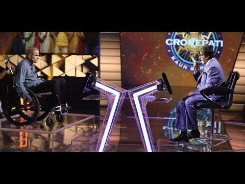 Navin Gulia with  Amitabh Bachchan on KBC