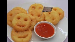 Hướng dẫn cách làm món Bánh khoai tây mặt cười - Potato Smiley | Feedy VN