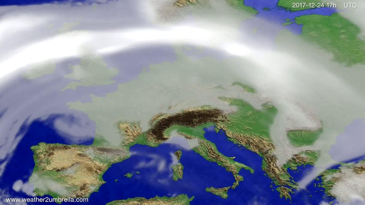 Cloud forecast Europe 2017-12-22