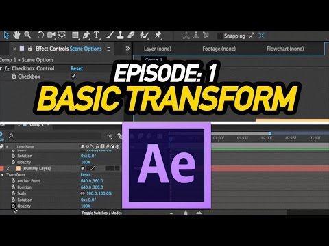 Introduction To After Effects Episode- 1| Basic Transform Tutorial In Tamil By Arun Sv