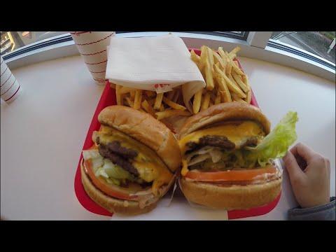 Жизнь в США. Фаст фуд, бургеры (видео)