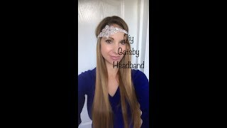 How to make a 1920s Gatsby Headband - Sparkly Diamante Rhinestone Wedding Headpiece/hairband