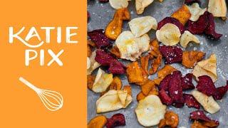 Baked Vegetable Crisps Recipe | Katie Pix by Katie Pix