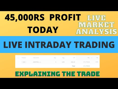 Nse Intraday Trading - 45000Rs Profit Today - Live Intraday