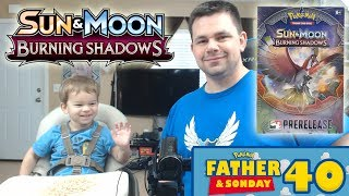 Opening Burning Shadows Packs of Pokemon Cards with Lukas! | Father & Sonday #39 by The Pokémon Evolutionaries