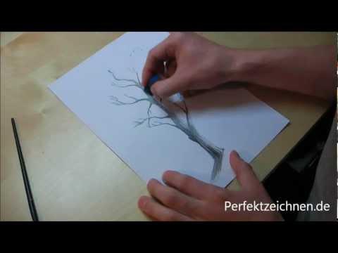 ★ Zeichnen Lernen Online: Bäume Zeichnen Lernen [Lektion 10]